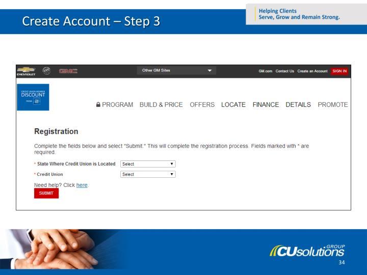 Create Account – Step