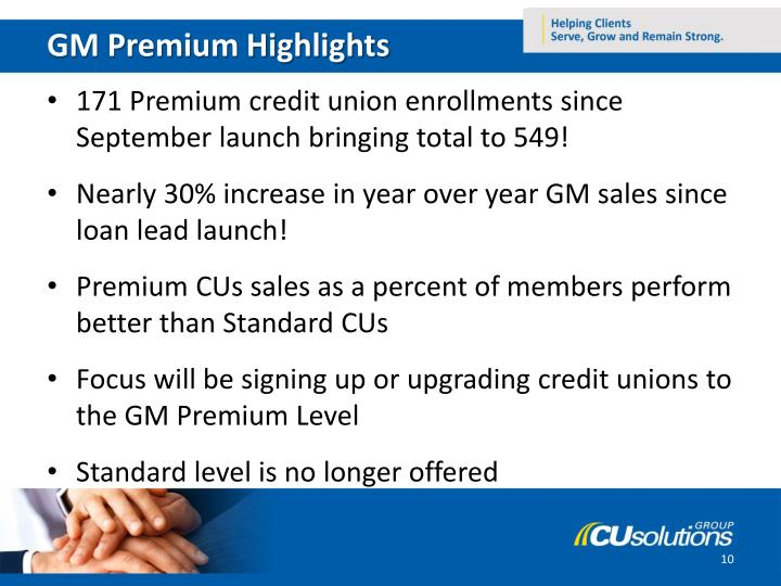 GM Premium Highlights