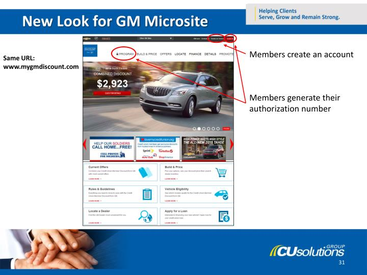 New Look for GM Microsite