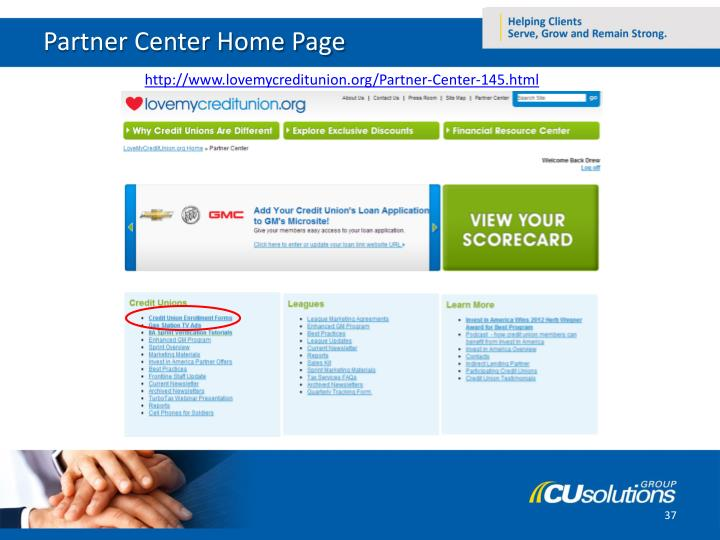Partner Center Home Page