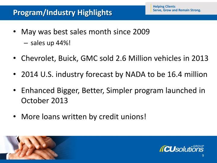 Program/Industry Highlights