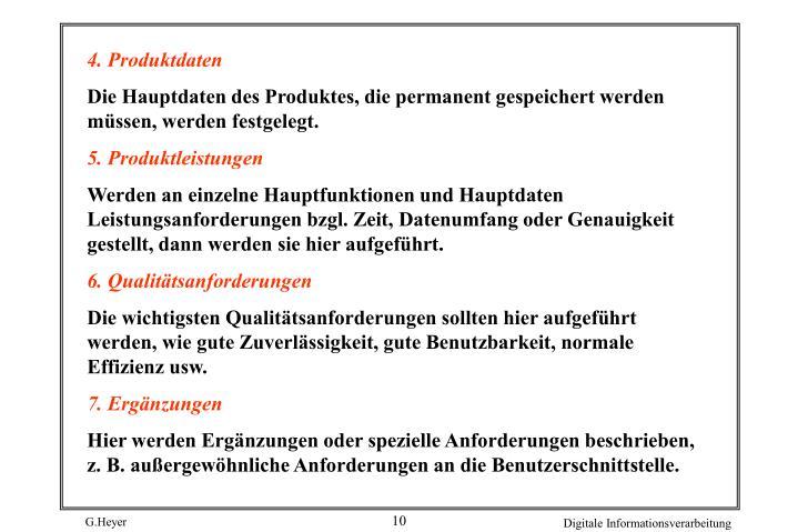 4. Produktdaten