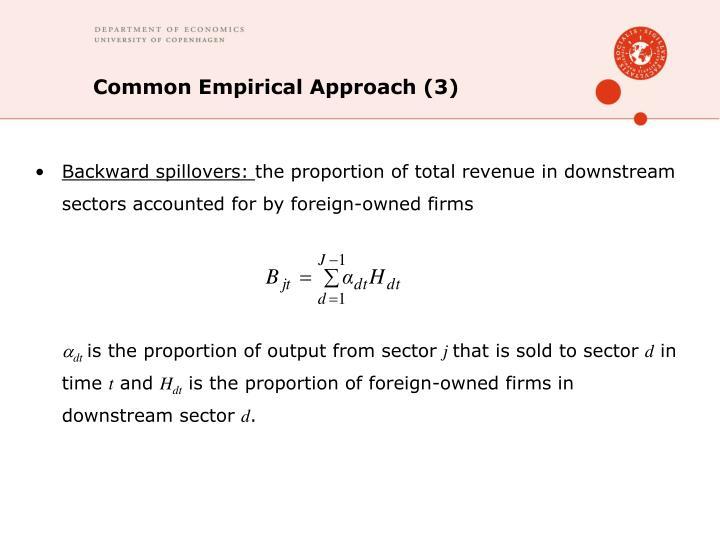 Common Empirical Approach (3)