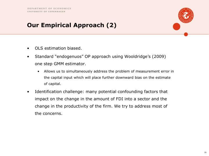 Our Empirical