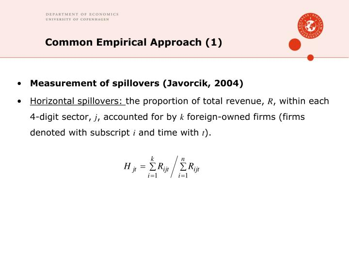 Common Empirical Approach (1)