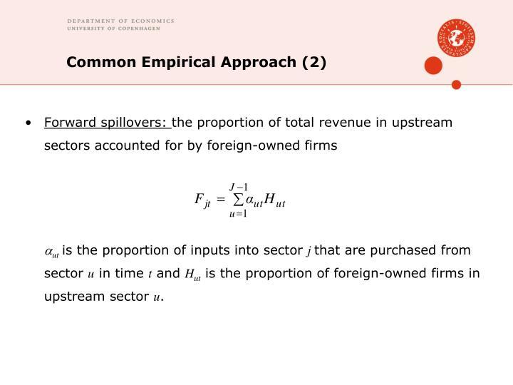 Common Empirical Approach (2)