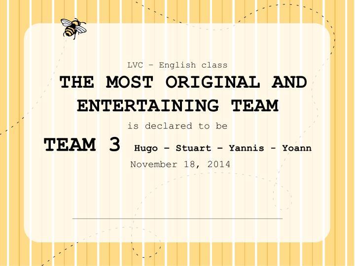 LVC – English class