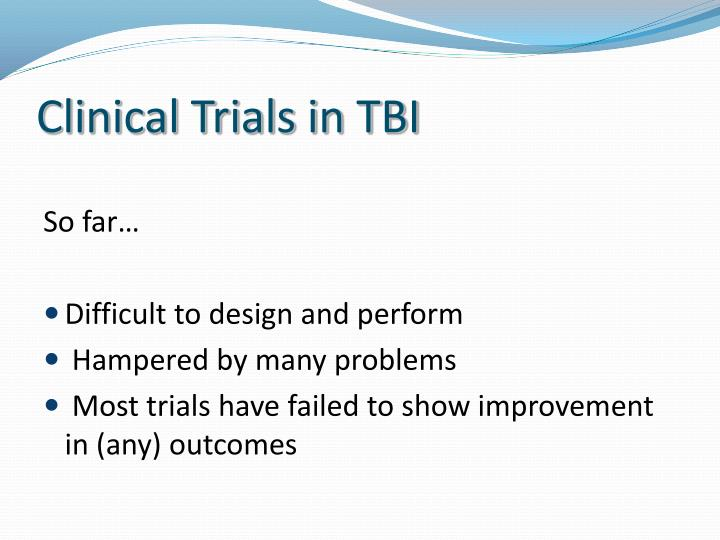 Clinical Trials in TBI