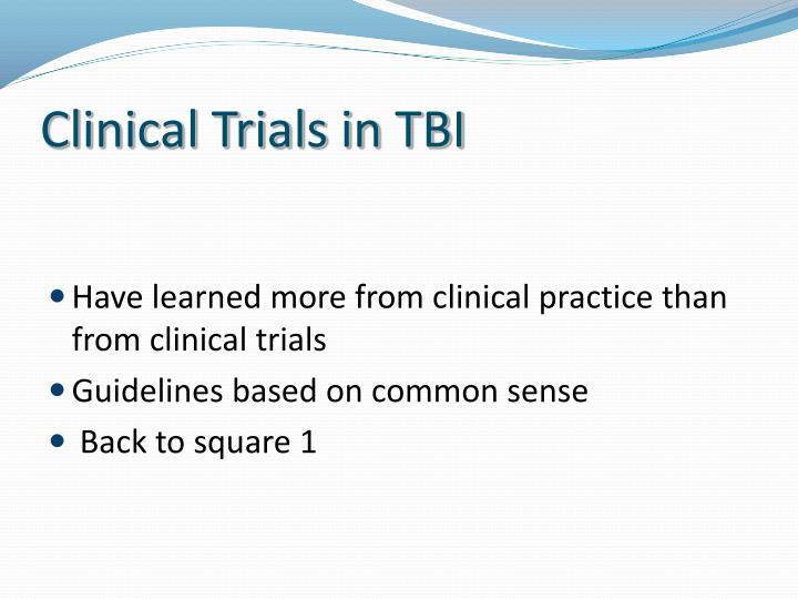 Clinical Trials in TBI
