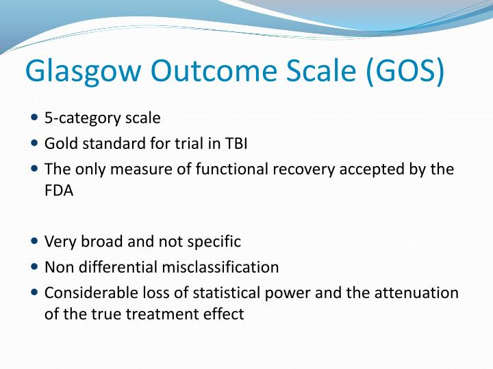 Glasgow Outcome Scale (GOS)