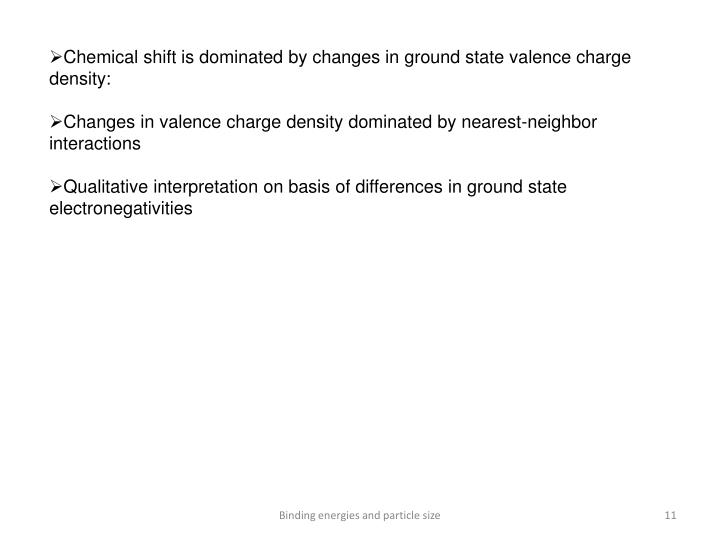 Chemical shift is dominated by changes in ground state valence charge density: