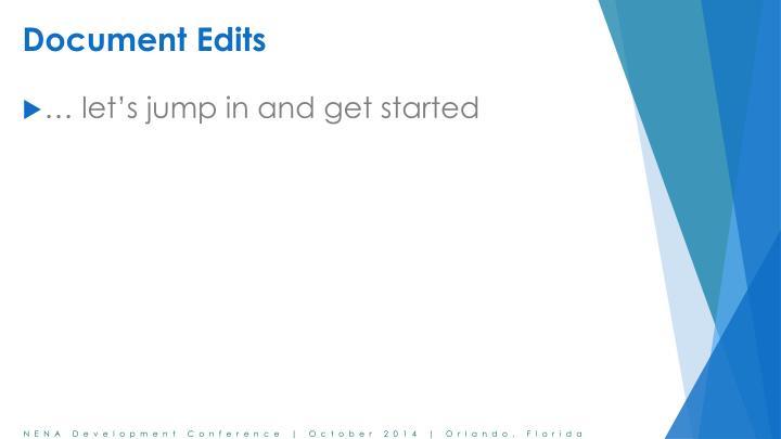 Document Edits