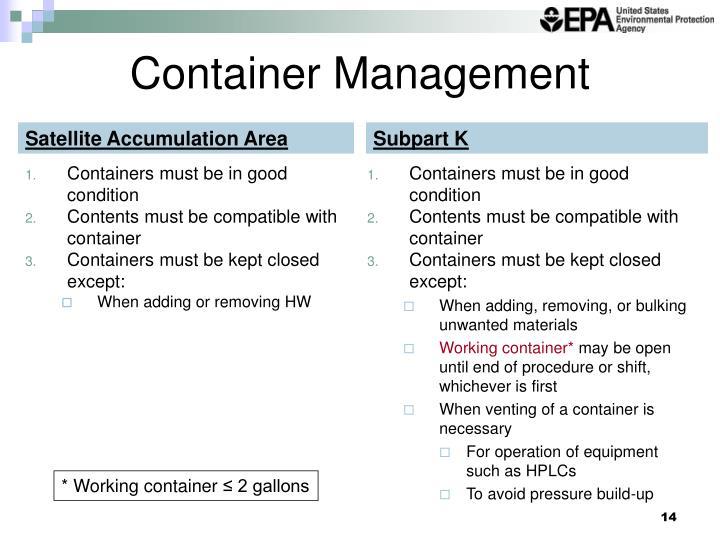 Container Management