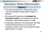 hazardous waste determination1