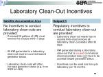 laboratory clean out incentives