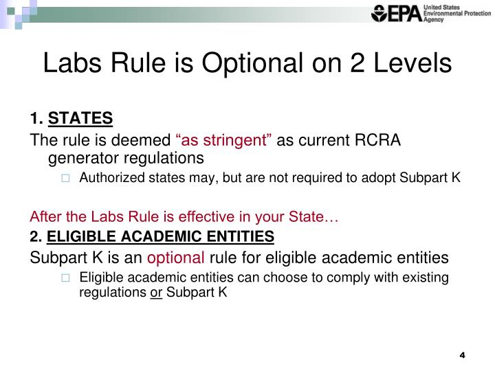 Labs Rule is Optional on 2 Levels