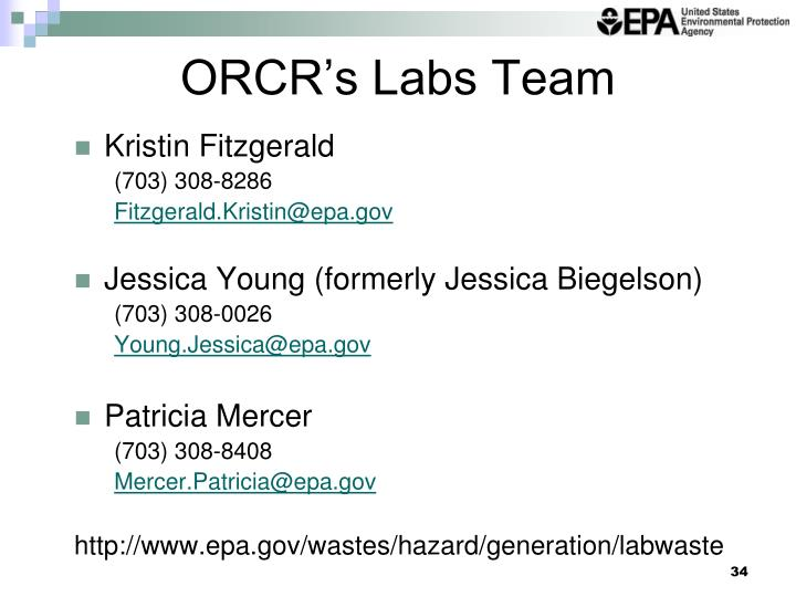 ORCR's Labs Team