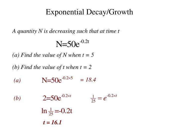 Exponential Decay/Growth