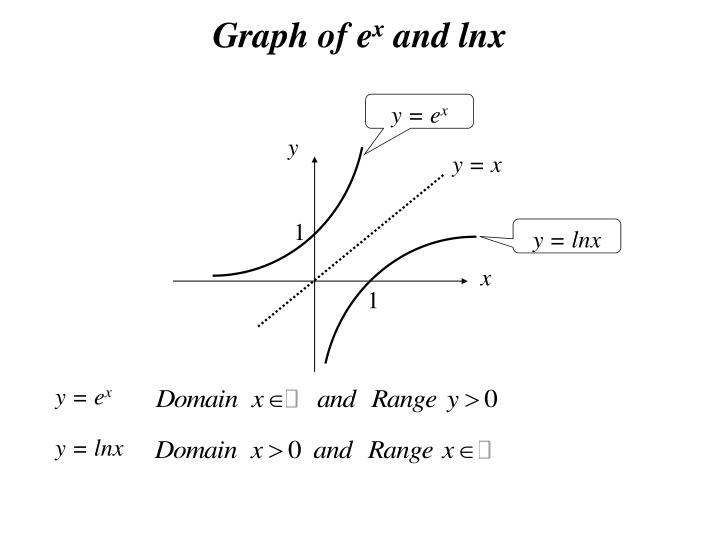 Graph of e x and lnx