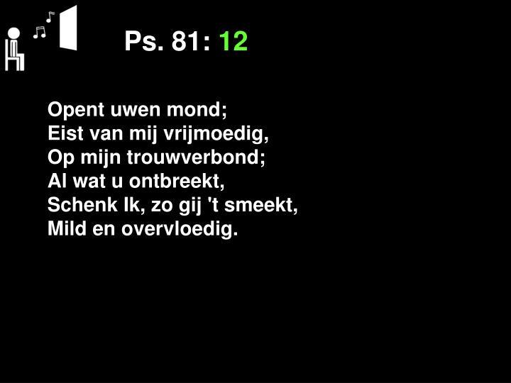 Ps. 81: