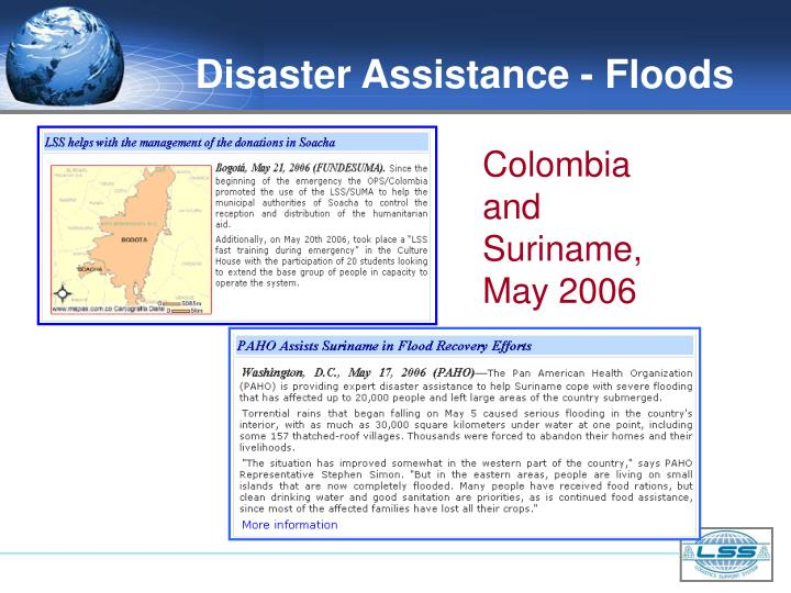 Disaster Assistance - Floods