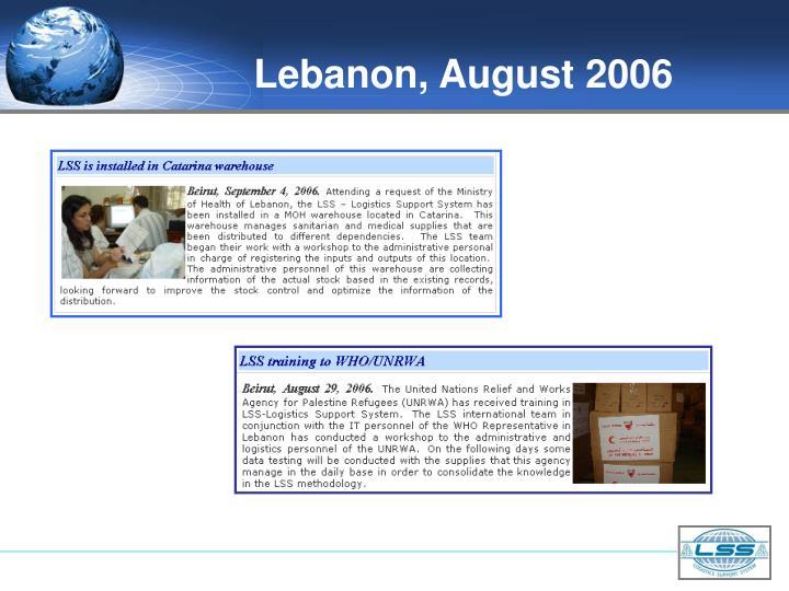 Lebanon, August 2006