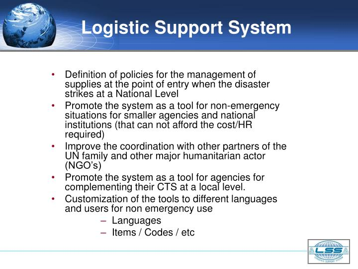 Logistic Support System