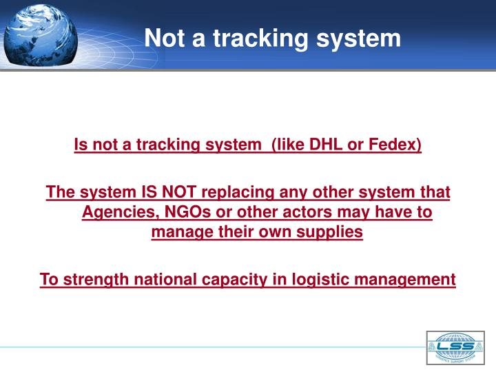 Not a tracking system