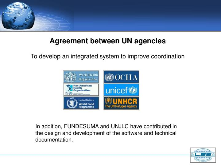 Agreement between UN agencies