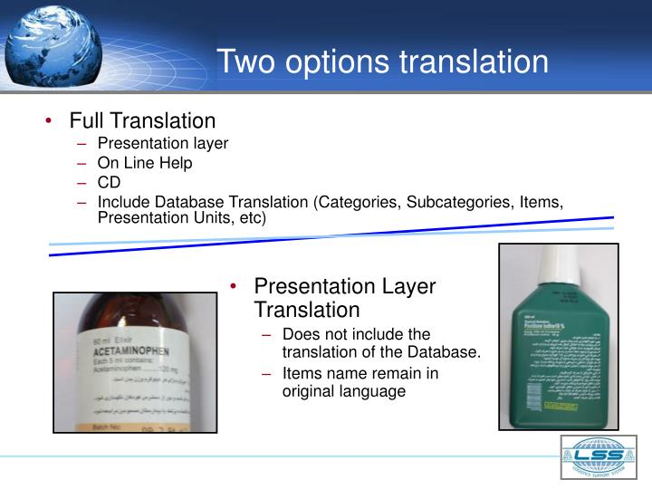 Two options translation