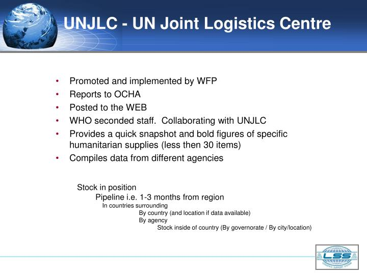 UNJLC - UN Joint Logistics Centre