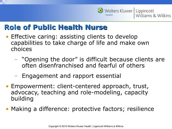 Role of Public Health Nurse