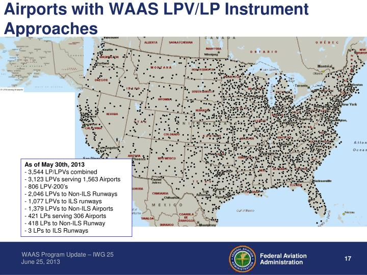 Airports with WAAS LPV/LP Instrument Approaches