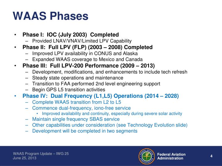 WAAS Phases