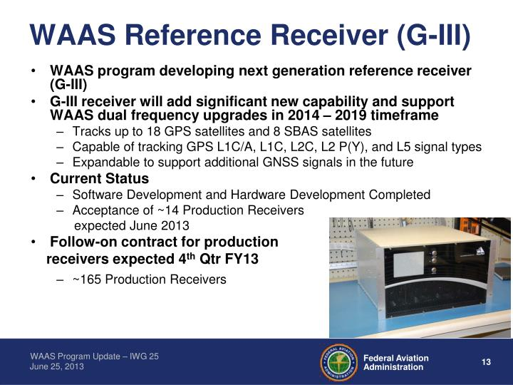 WAAS Reference Receiver (G-III)