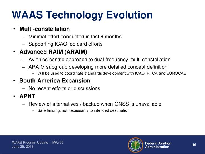 WAAS Technology Evolution