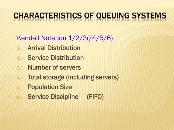 Characteristics of queuing