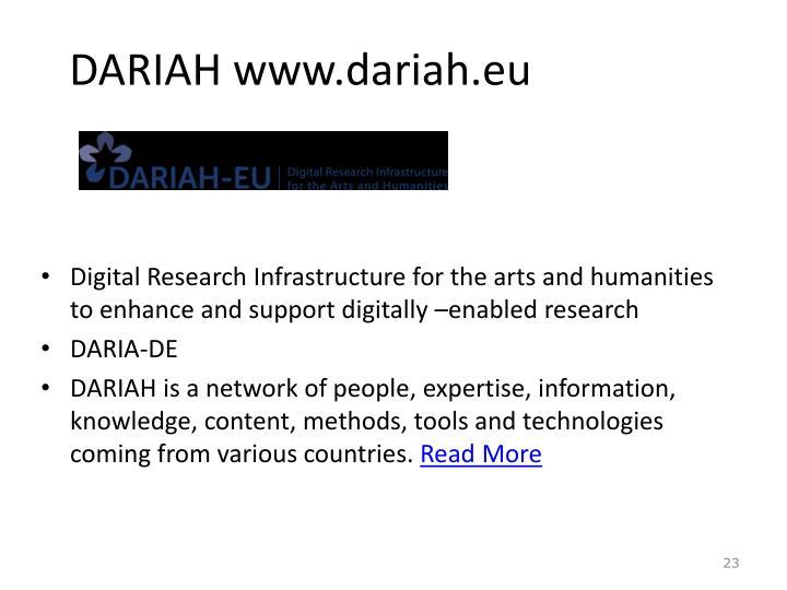 DARIAH www.dariah.eu