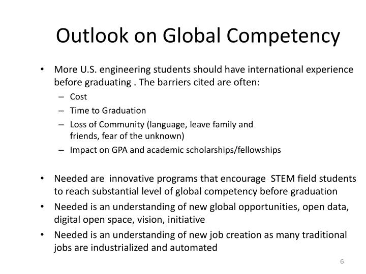 Outlook on Global Competency
