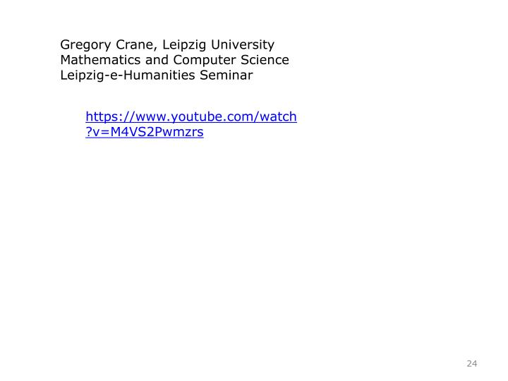 Gregory Crane, Leipzig University