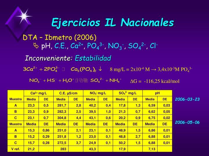 Ejercicios IL Nacionales