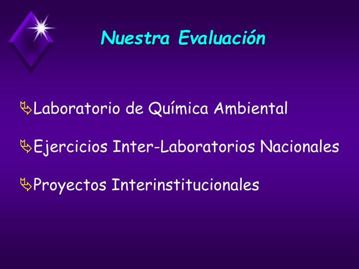 Nuestra Evaluación