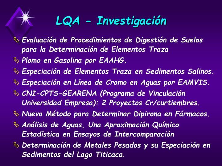 LQA - Investigación