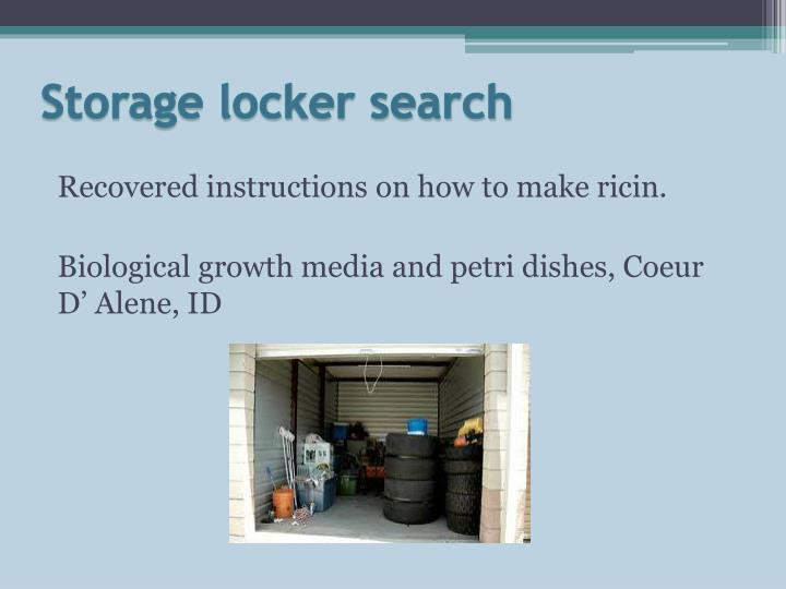 Storage locker search