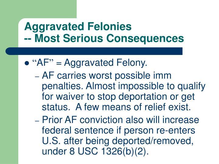 Aggravated Felonies