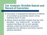cat analysis divisible statute and record of conviction