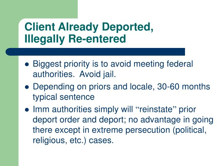 Client Already Deported,
