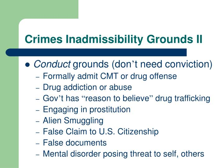 Crimes Inadmissibility Grounds II