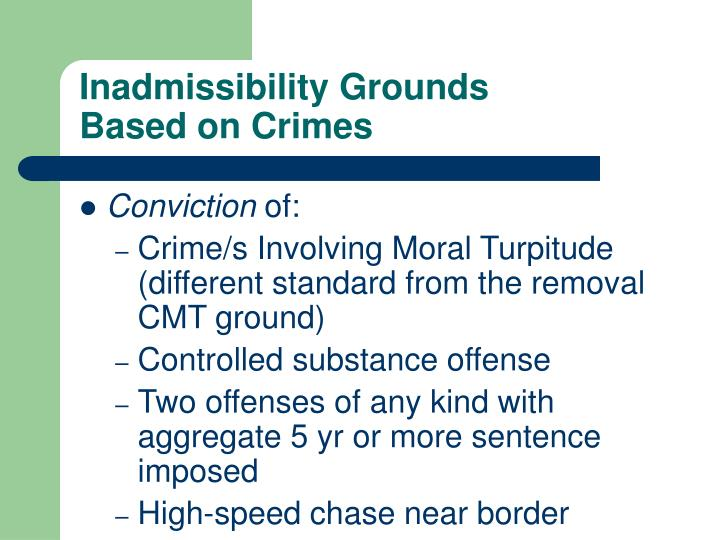 Inadmissibility Grounds