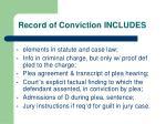 record of conviction includes
